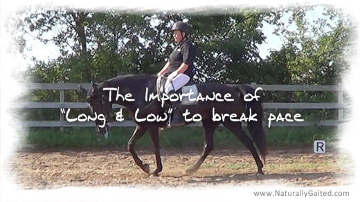 Importance of long and low to break pace