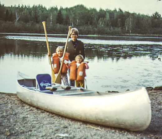 Me, Mom and Sis at the Boundary Waters