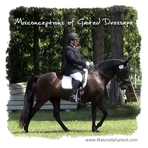Misconceptions of gaited dressage