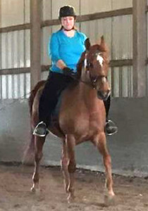 Cynthia and her Heritage Walking Horse Temp's Red Rascal